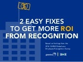 2 Easy Fixes to Get More ROI from Recognition