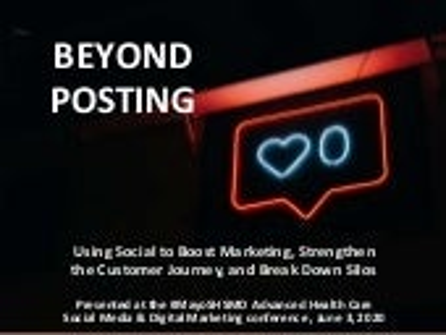 Beyond Posting - the Evolution of Social Media in Healthcare