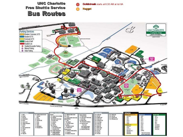 Unc Charlotte Shuttle Map Schedule