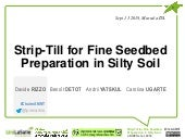 Strip-Till for Fine Seedbed Preparation in Silty Soil