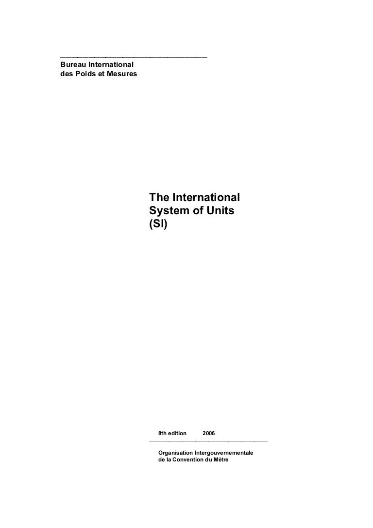 The international system of units si buycottarizona Image collections