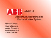 abb case study Abb case study submitted by: orn3lla on october 31, 2013 below is a free excerpt of abb case study from anti essays, your source for free research papers, essays, and term paper examples.