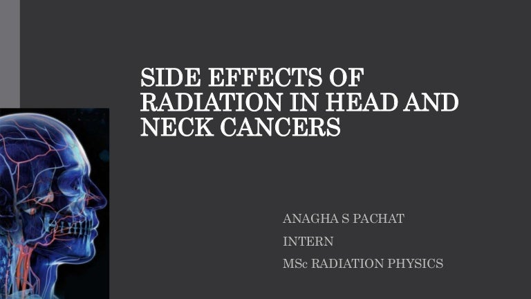 side effects of radiation in head and neck cancer