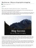 Blog success - Why your blog might be struggling
