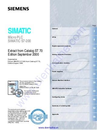 Siemens s7-200 new catalogue