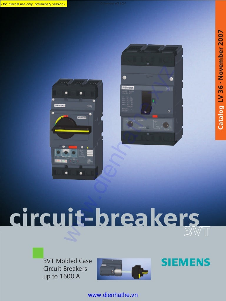Siemens catalog circuit breakers 3 vt_lv36_11_2007