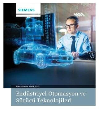 Siemens Otomasyon Aralık 2015 Fiyat Listesi