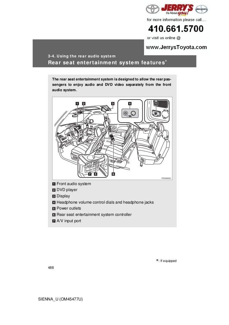 Toyota Sienna Service Manual: Speaker Circuit