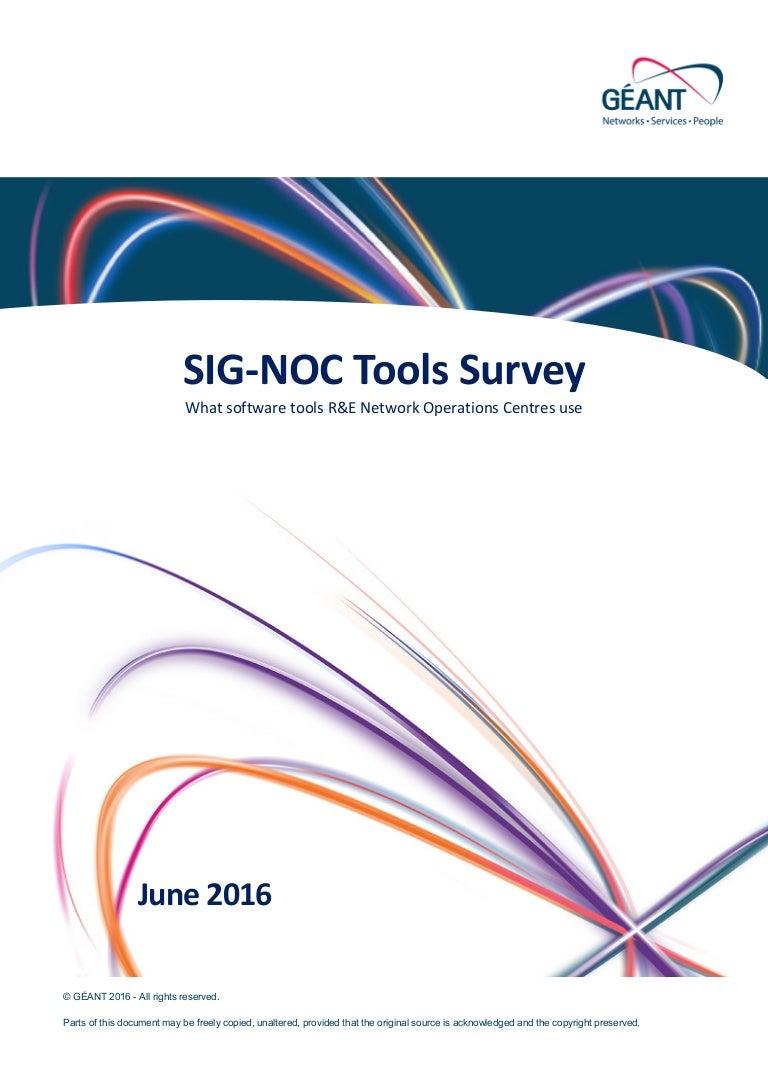 SIG-NOC Tools Survey
