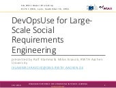 DevOpsUse for Large-Scale Social Requirements Engineering @ SIG WELL - EC-TEL 2016