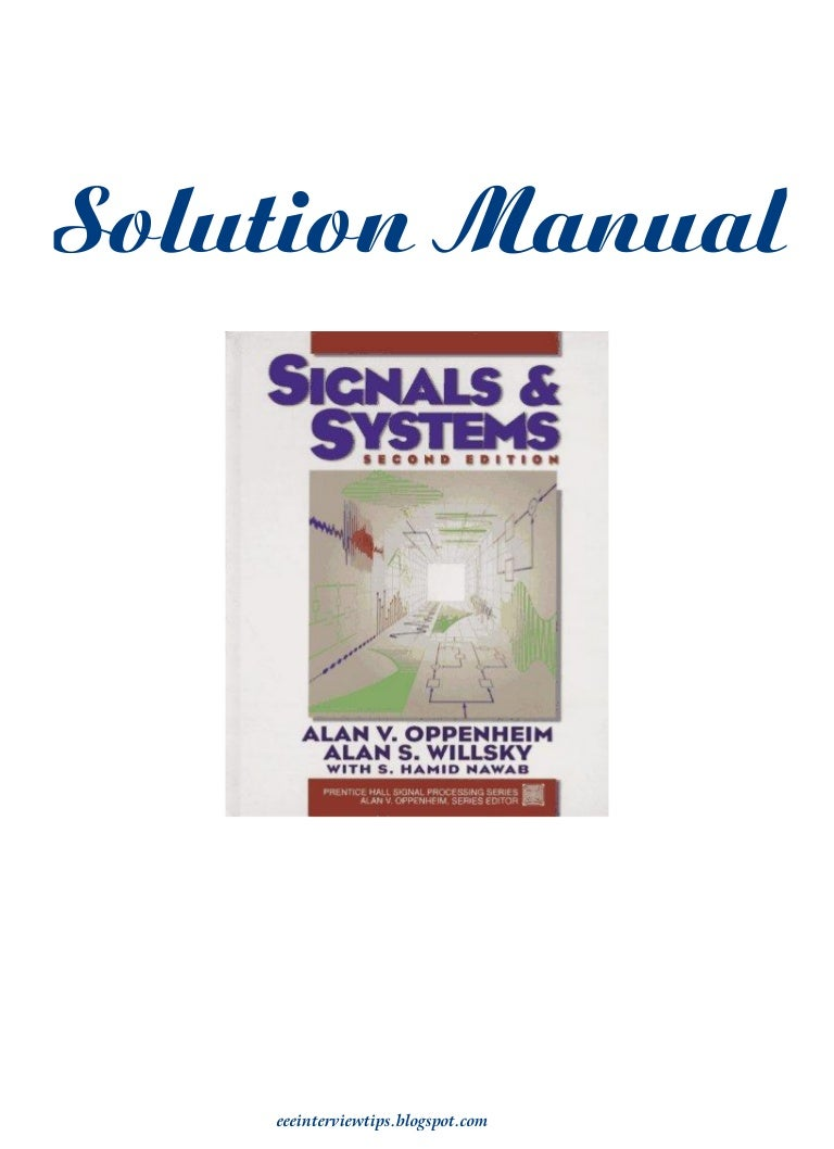 signals and systems by alan v oppenheim  alan s  willsky