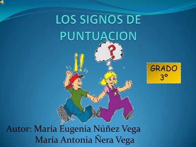 LOS SIGNOS DE PUNTUACION