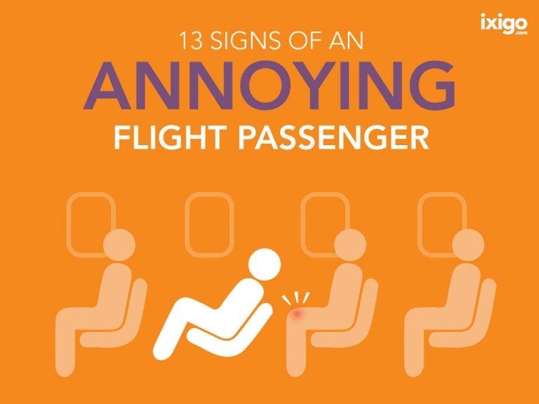 13 Signs Of An Annoying Flight Passenger