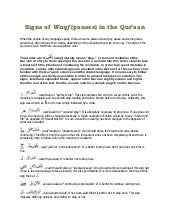 Signs of waqf in Quran
