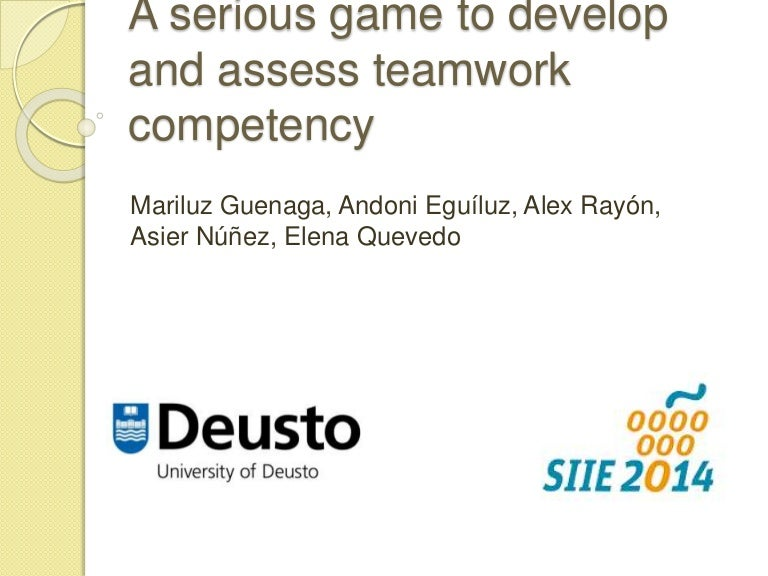 siie2014guenaga-141112123652-conversion-gate02-thumbnail-4 Teamwork Competency Performance Examples on statement 2 for cda, assessment template excel, skills matrix template,