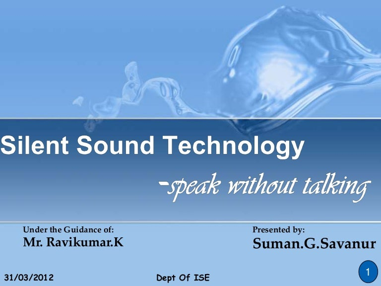 report on silent sound technology Special reports technology quarterly  providing a familiar audible feedback to drivers of vehicles with a silent engine  as the karma uses new technology it is fitting that its sound.
