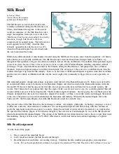 Silk road reading