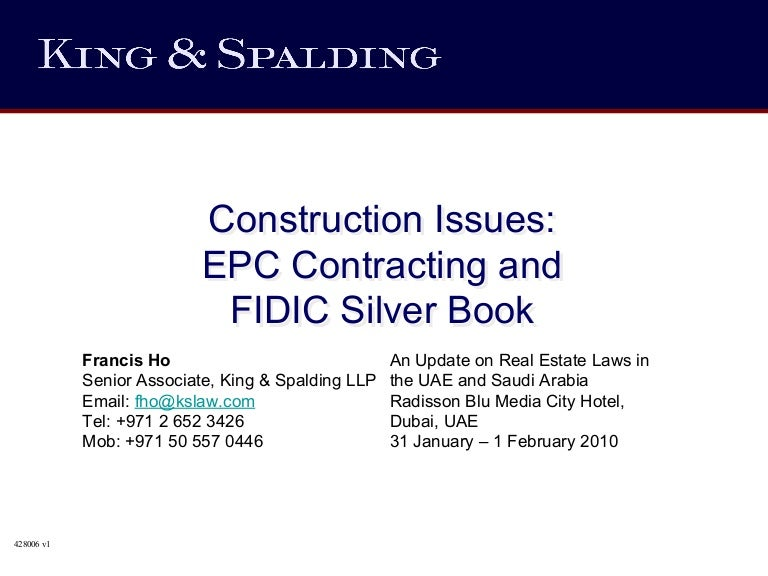 Fidic Silver Book Epc Turnkey Contract Free Download. despacho Power Medios recien iPhone