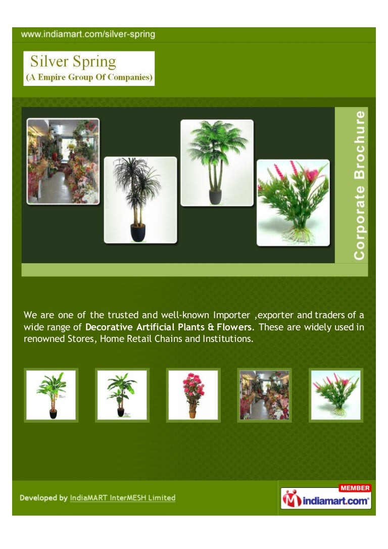 Silver Spring Coimbatore Artificial Plants And Flowers