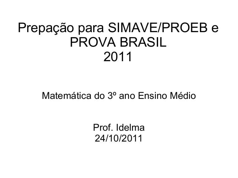 Simave Proeb 2011 Para 3º