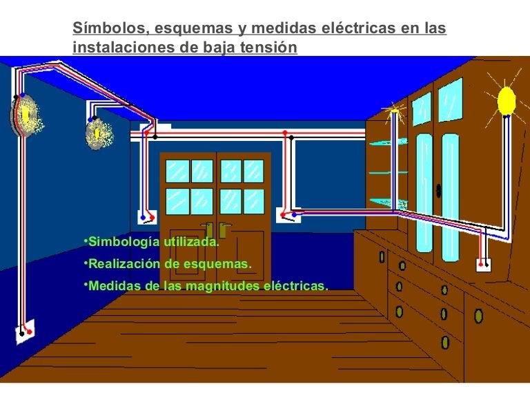 S mbolos esquemas y medidas for Instalacion electrica de una vivienda paso a paso