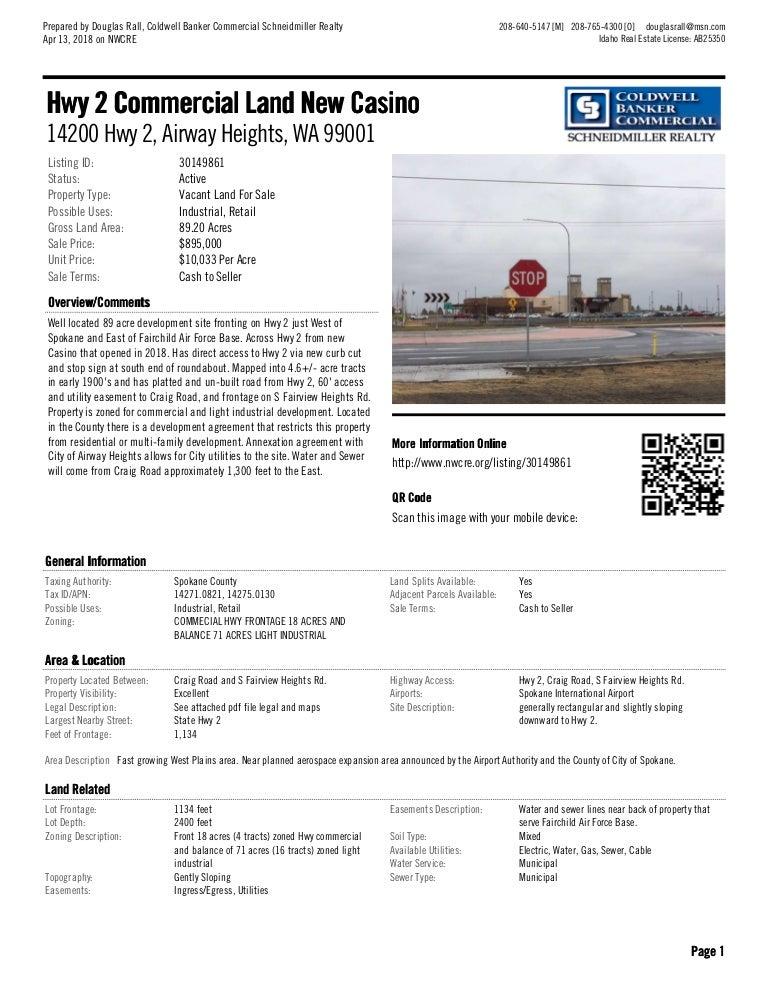 E  Washington State Commercial-Industrial Development land