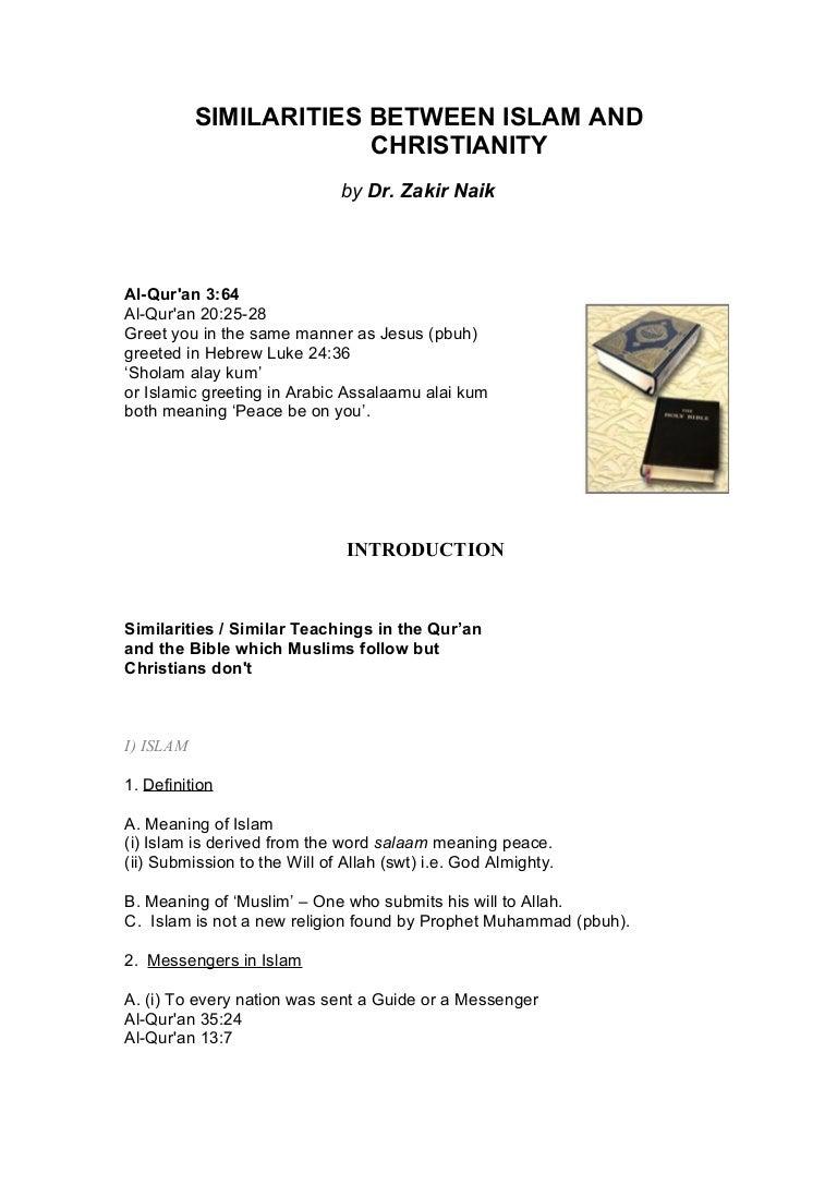 Similarities between islam and christianity dr zakir naik kristyandbryce Choice Image