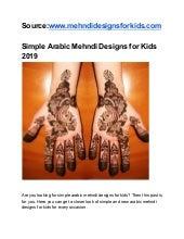 arabic mehndi design easy and beautiful for kids