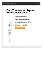 Simplehuman offer the best adjustable tension shower caddy stainless steel only too low to display reviews