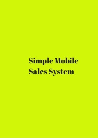 Simple mobile sales system download