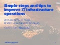 Simple steps and tips to improve IT infrastructure operations #yapcasia #yapcasiaE