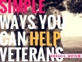 Simple Ways You Can Help Veterans | Michael G. Sheppard