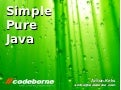 Simple Pure Java