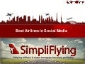 Best Airlines in Social Media - SimpliFlying Awards 2011