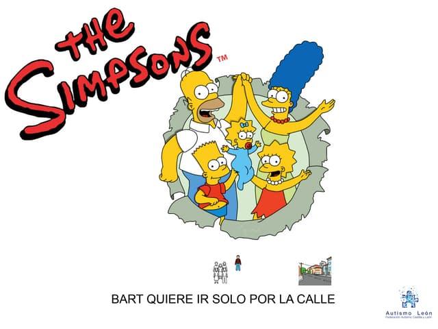 """Cuento adaptado con pictogramas """"Bart quiere ir solo por la calle"""""""