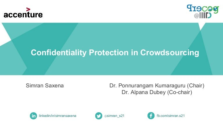 Simran confidentiality protection in crowdsourcing