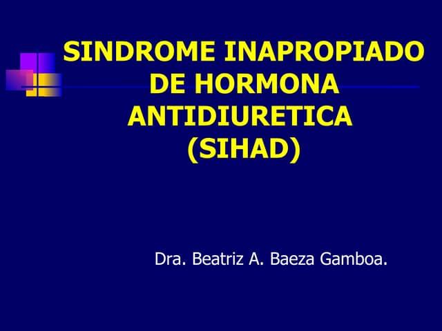 Sindrome inapropiado de hormona antidiuretica