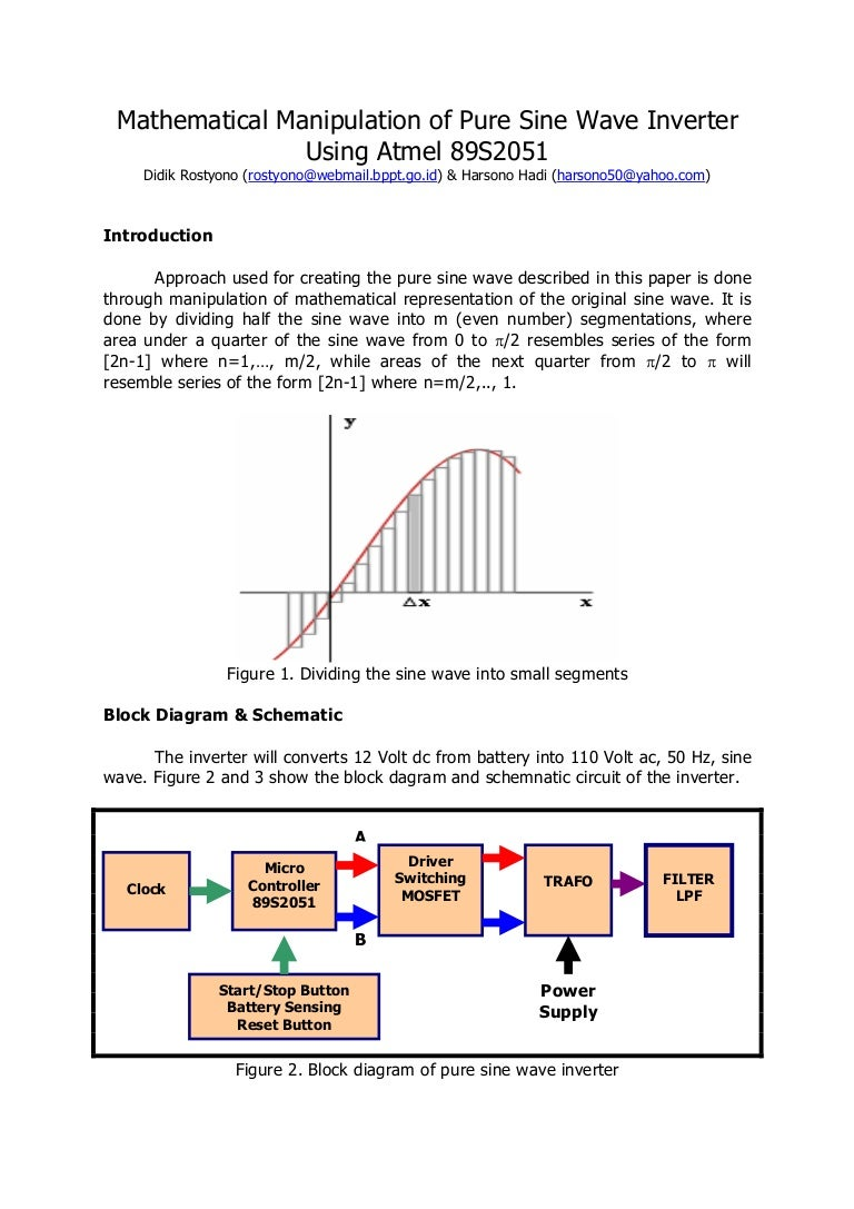 Inverter Sinewave Schematic Sine Wave Generator Pure Circuit Diagram