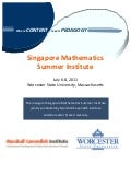 MCI-Worchester State University Singapore Math Summer Institute