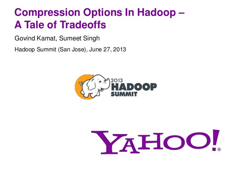 Compression Options in Hadoop - A Tale of Tradeoffs
