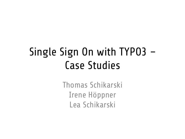 Single Sign On With TYPO60 Delectable Sso Quote