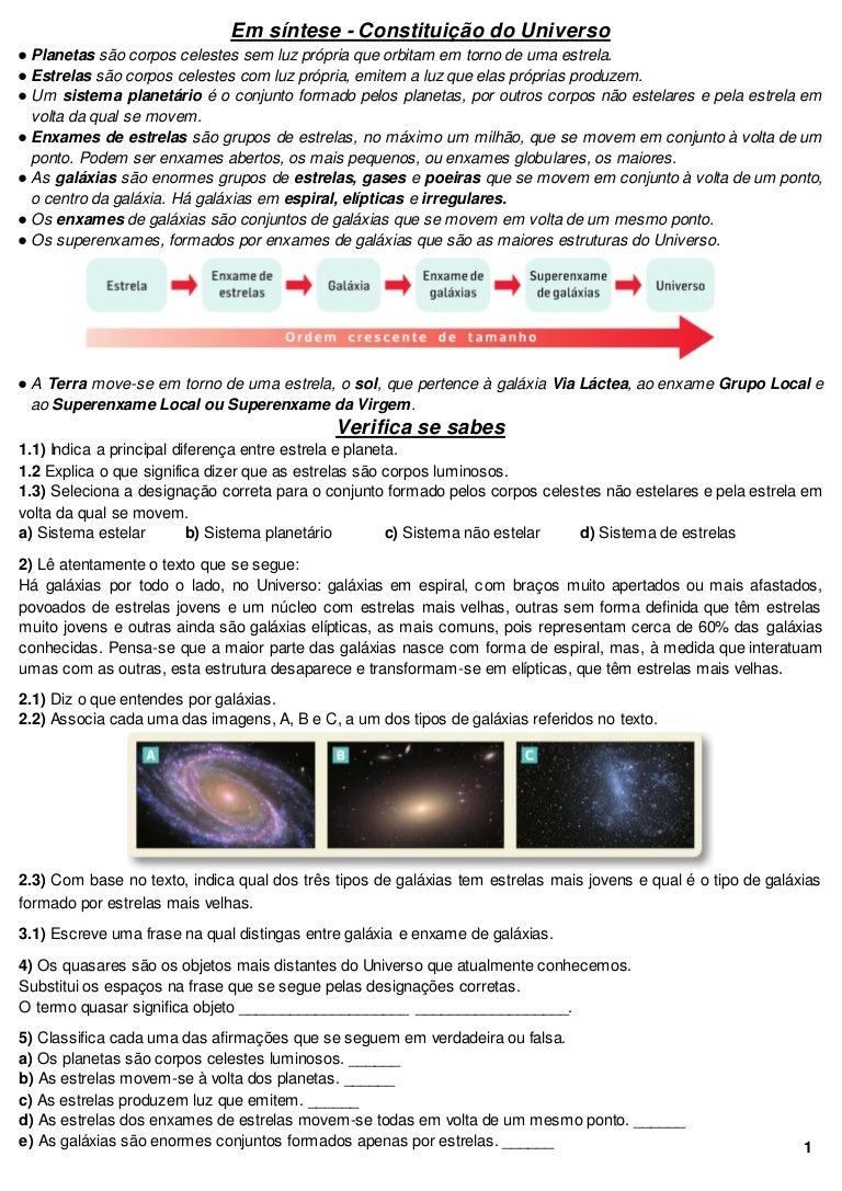 Física e Química 7º Ano - Resumo