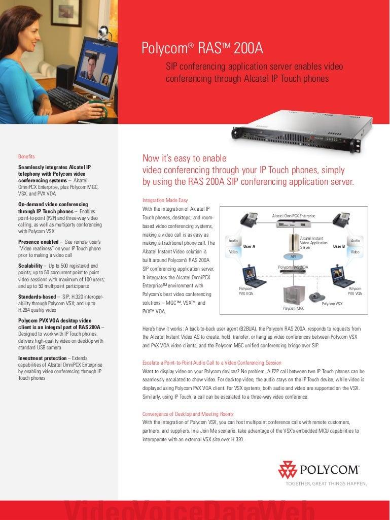 SIP conferencing Application Server Enables Video