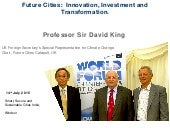 Future Cities:  Innovation, Investment and Transformation - Professor Sir David King