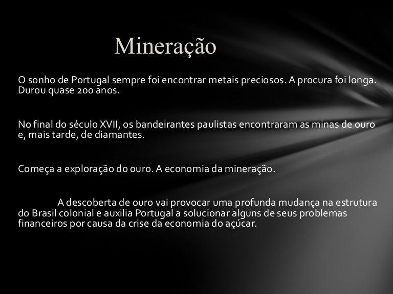 Sistema colonial portugues (mineração)