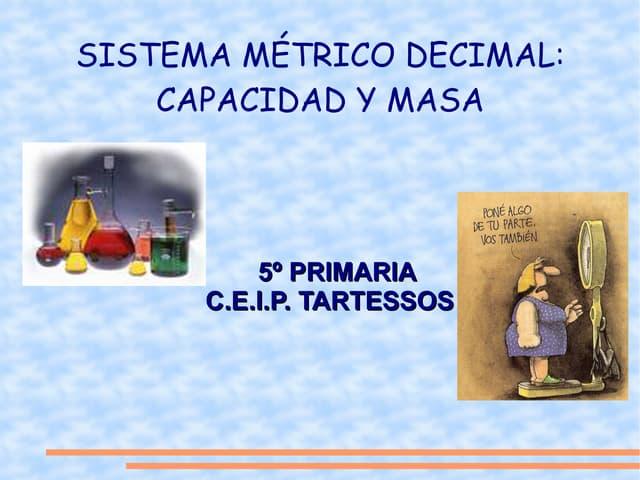 Sistema métrico decimal.capacidad y masa