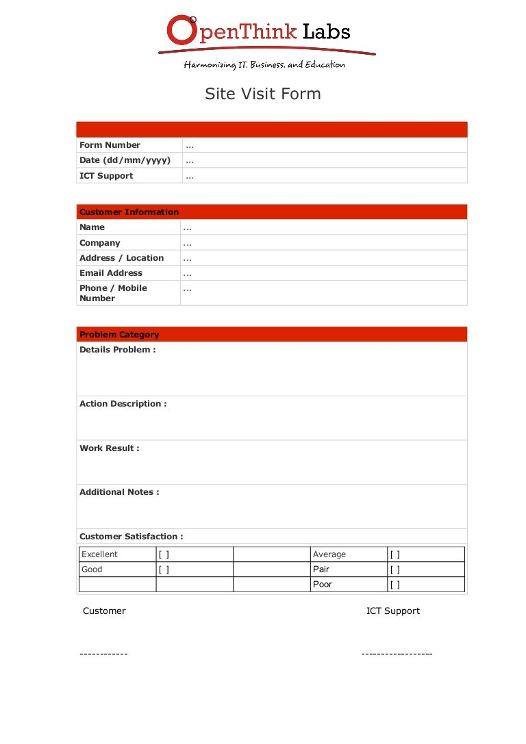SlideShare  Customer Form Template