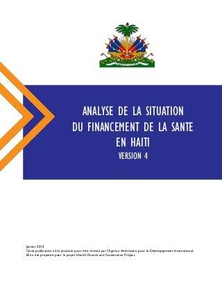 Analyse de la situation du financement de la santé en Haïti Version 4