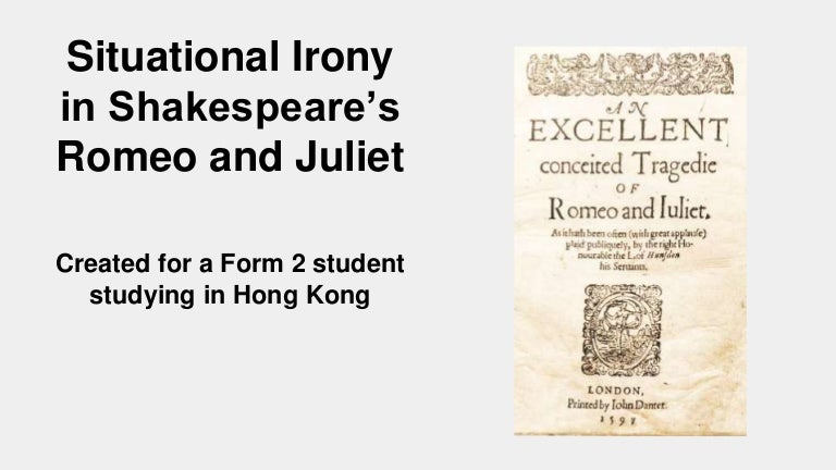 situational irony in hamlet Irony in hamlet essays these are sample irony in hamlet essays contributed by students around the world.
