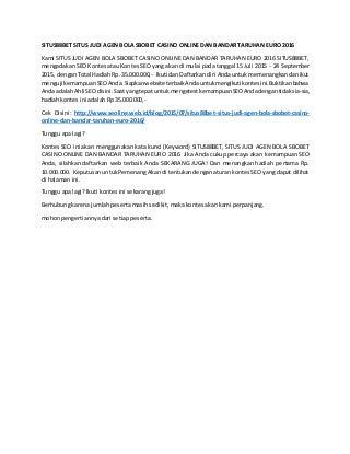 Situs88 bet situs judi agen bola sbobet casino online dan bandar taruhan euro 2016